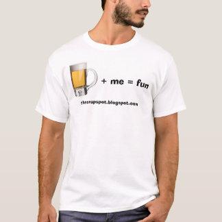 Camiseta Cerveja mais mim divertimento dos iguais