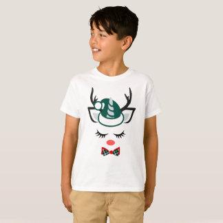 Camiseta Cervo-Menino bonito do papai noel