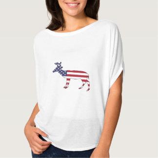 """Camiseta Cervos """"bandeira americana """""""