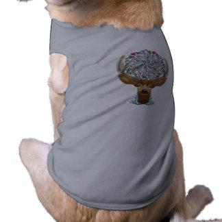 Camiseta Cervos bonitos mágicos da floresta com símbolo do