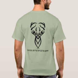 Camiseta cervos e rifle do clube do thee