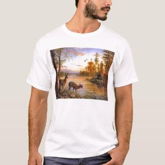 Camiseta Cervos na cabine do lago