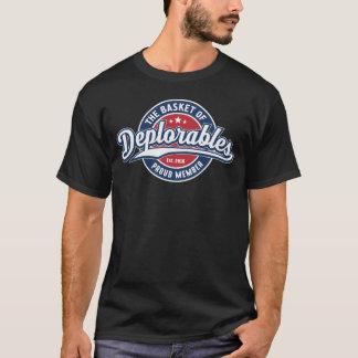 Camiseta Cesta da equipe do membro orgulhoso de Deplorables