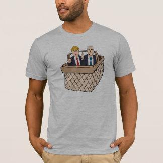Camiseta Cesta das moedas de um centavo do trunfo de
