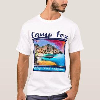 Camiseta Céu azul e vermelho do Fox do acampamento no