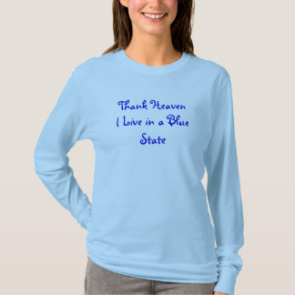 Camiseta Céu do obrigado eu vivo em um estado azul