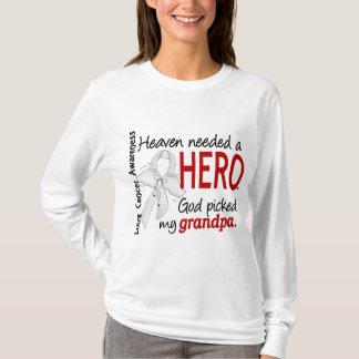 Camiseta Céu necessário um câncer pulmonar do vovô do herói