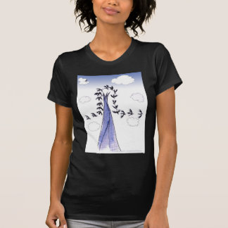 Camiseta Céus azuis de ShardArt por Tony Fernandes