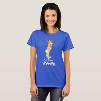 Camiseta Chá de fraldas bonito do príncipe Género Revelação