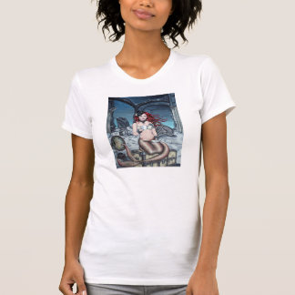 Camiseta Chá no t-shirt da sereia do steampunk da sala de