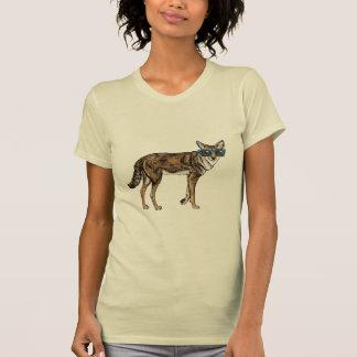 Camiseta Chacal engraçado do hipster com óculos de sol