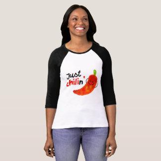 Camiseta Chalaça positiva da pimenta de pimentão - apenas