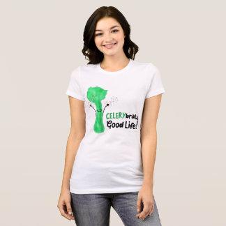 Camiseta Chalaça positiva do aipo - boa vida de Celerybrate