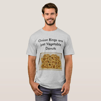 Camiseta Chalaças da comida dos anéis de cebola