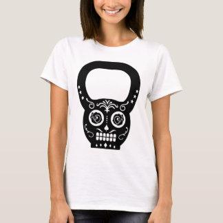 Camiseta Chaleira preta Bell do crânio do açúcar