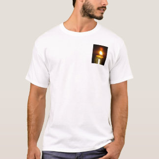 Camiseta chama de vela