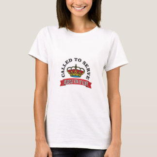 Camiseta chamado para servir o rei celestial do vermelho da