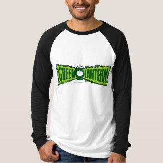 Camiseta Chamas verdes do logotipo