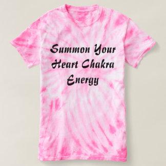Camiseta Chame sua energia de Chakra do coração