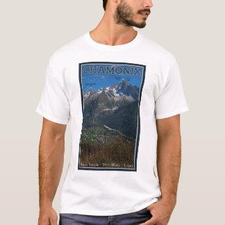 Camiseta Chamonix - Aiguille Verte acima de Chamonix