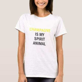 Camiseta Champagne é meu animal do espírito