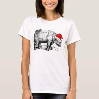 Camiseta Chapéu Albrecht Durer do papai noel do rinoceronte