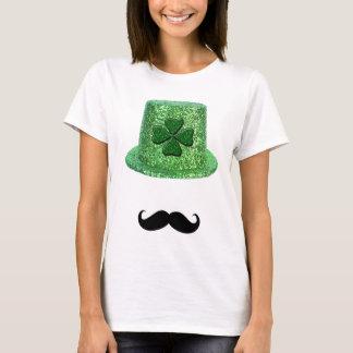 Camiseta Chapéu & bigode da faísca do trevo do dia de St