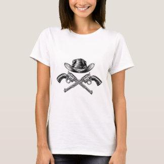 Camiseta Chapéu de vaqueiro e armas cruzadas