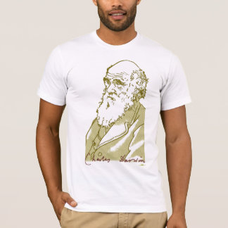 Camiseta Charles Darwin. T-shirt dos homens