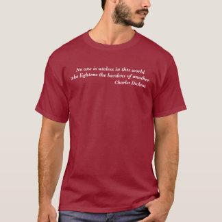 Camiseta Charles Dickens ninguém é t-shirt inútil das