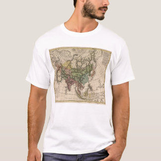 Camiseta Charte camionete Asien (mapa de Ásia) 1805