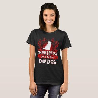 Camiseta Chartreux antes do Tshirt do amor dos animais de