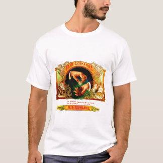 Camiseta Charutos do dinheiro do vintage que fumam a arte