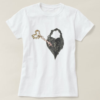 Camiseta Chave de esqueleto a meu coração fechado