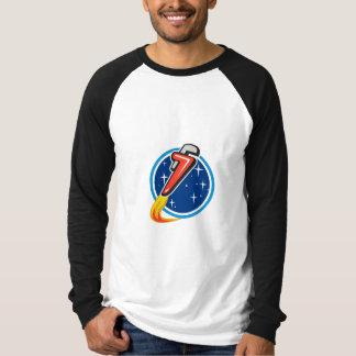 Camiseta Chave de tubulação Rocket que sopra fora do