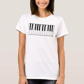 Camiseta chaves música-temáticos do piano