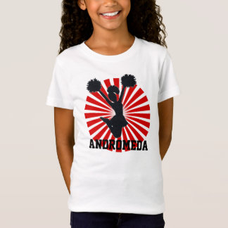 Camiseta Cheerleader personalizado no Sunburst vermelho