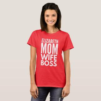 Camiseta Chefe da esposa da mamã de Elizabeth