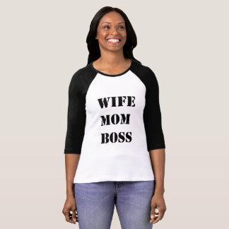 Camiseta Chefe da mamã da esposa