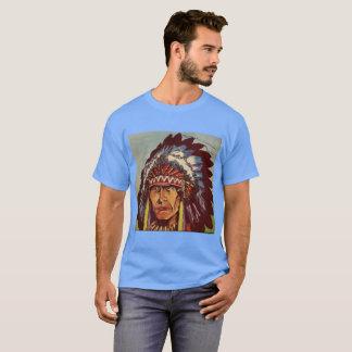 Camiseta Chefe da mantilha do nativo americano