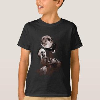Camiseta Chefe indiano - lobo - lua - urso - Eagle