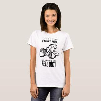 Camiseta Cheio da árvore genealógica dos loucos
