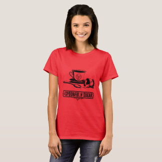 Camiseta Cheio da colher das mulheres do t-shirt do açúcar