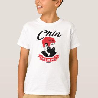 Camiseta Cheio de Chin da barba do hóquei da juventude da