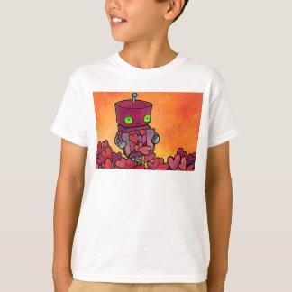 Camiseta Cheio do robô dos corações