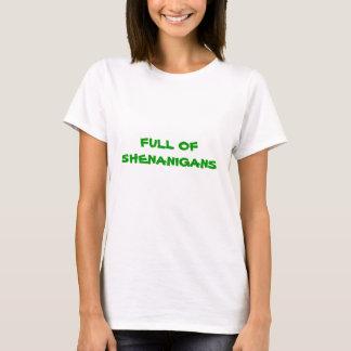 Camiseta CHEIO DOS SHENANIGANS, T do DIA do ST. PATRICKS
