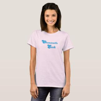 Camiseta Chemtrails suga o t-shirt das mulheres