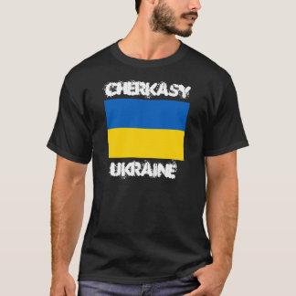 Camiseta Cherkasy, Ucrânia com bandeira ucraniana