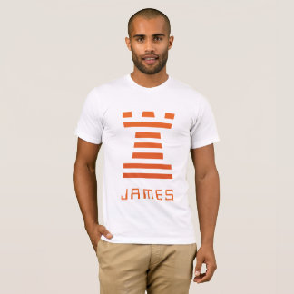 Camiseta ChessME! O Inverse branco adiciona o nome