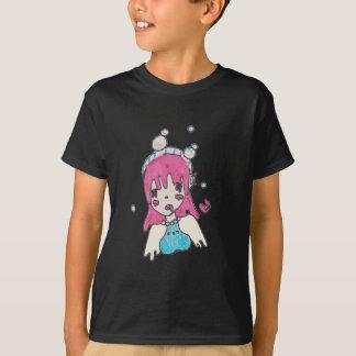 Camiseta chibi disolving da bolha da água